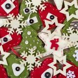 Χειροποίητη αισθητή διακόσμηση Χριστουγέννων Στοκ Εικόνα
