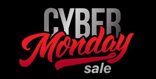 Χειροποίητη εγγραφή πώλησης Δευτέρας Cyber ελεύθερη απεικόνιση δικαιώματος