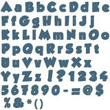 Χειροποίητη επιστολή του αλφάβητου τζιν Στοκ φωτογραφίες με δικαίωμα ελεύθερης χρήσης