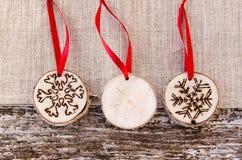 Χειροποίητη διακόσμηση διακοσμήσεων Χριστουγέννων Στοκ εικόνα με δικαίωμα ελεύθερης χρήσης
