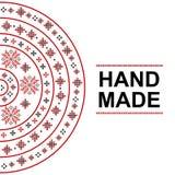 Χειροποίητη κάρτα με την παραδοσιακή ρουμανική διακόσμηση διανυσματική απεικόνιση