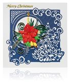 Χειροποίητη κάρτα Χριστουγέννων με τους χαιρετισμούς Χαρούμενα Χριστούγεννας και poins Στοκ φωτογραφία με δικαίωμα ελεύθερης χρήσης