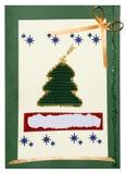 χειροποίητη κάρτα Χριστουγέννων Στοκ φωτογραφία με δικαίωμα ελεύθερης χρήσης