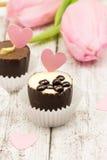 Χειροποίητη καραμέλα σοκολάτας πολυτέλειας Στοκ Εικόνες