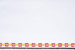 Χειροποίητη κεντητική στοιχείων από τη διαγώνια βελονιά Υπόβαθρο με Geo Στοκ εικόνα με δικαίωμα ελεύθερης χρήσης