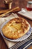 χειροποίητη πίτα μήλων Στοκ φωτογραφία με δικαίωμα ελεύθερης χρήσης