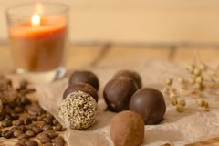Χειροποίητη σοκολάτα candys Στοκ φωτογραφίες με δικαίωμα ελεύθερης χρήσης