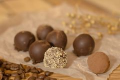 Χειροποίητη σοκολάτα candys Στοκ Εικόνες