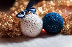 Χειροποίητη σφαίρα Χριστουγέννων Στοκ Φωτογραφίες