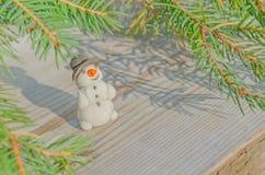 Χειροποίητος χιονάνθρωπος Χριστουγέννων Στοκ φωτογραφία με δικαίωμα ελεύθερης χρήσης