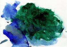 Χειροποίητος ψεκασμός υποβάθρου watercolor μπλε αφηρημένος ελεύθερη απεικόνιση δικαιώματος