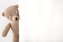 χειροποίητος teddybear Στοκ φωτογραφίες με δικαίωμα ελεύθερης χρήσης