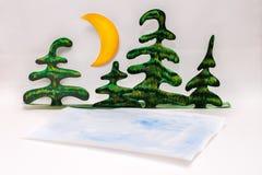 Χειροποίητο δάσος εγγράφου Στοκ Εικόνα