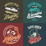 Χειροποίητο έμβλημα μπλουζών μοτοποδηλάτων της Νέας Υόρκης Μπρούκλιν Στοκ εικόνες με δικαίωμα ελεύθερης χρήσης