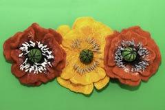 Χειροποίητο αισθητό, λουλούδια στοκ φωτογραφίες με δικαίωμα ελεύθερης χρήσης