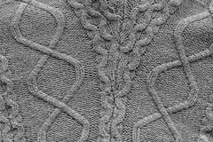 Χειροποίητο γκρίζο πλέκοντας υπόβαθρο σύστασης σχεδίων Στοκ φωτογραφία με δικαίωμα ελεύθερης χρήσης