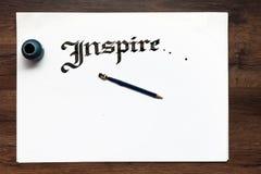 Χειροποίητο γράφοντας υπόβαθρο καλλιγραφίας στοκ εικόνες