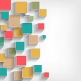 χειροποίητο λευκό watercolors σύστασης τετραγώνων εγγράφου χρωμάτων χρώματος Στοκ Φωτογραφία