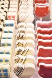 Χειροποίητο ζωηρόχρωμο γλυκό σοκολάτας, υπόβαθρο Στοκ φωτογραφία με δικαίωμα ελεύθερης χρήσης