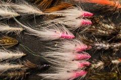 Χειροποίητο θέλγητρο αλιείας μυγών Στοκ Φωτογραφίες
