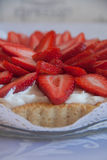 Χειροποίητο κέικ φραουλών Στοκ Εικόνες