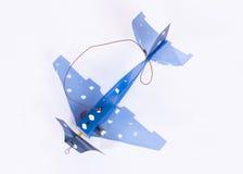 Χειροποίητο μικρό αεροπλάνο Στοκ εικόνα με δικαίωμα ελεύθερης χρήσης