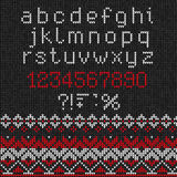 Χειροποίητο πλεκτό αφηρημένο σχέδιο υποβάθρου με το αλφάβητο, lowe Στοκ εικόνα με δικαίωμα ελεύθερης χρήσης