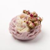 Χειροποίητο σαπούνι ως τριαντάφυλλα, λουλούδια, aromatherapy, SPA Στοκ Εικόνα