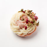 Χειροποίητο σαπούνι ως τριαντάφυλλα, λουλούδια, aromatherapy, SPA Στοκ Φωτογραφίες