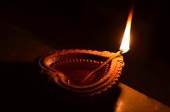Χειροποίητο diya Diwali Στοκ Φωτογραφίες