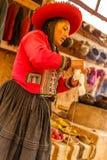 Χειροποίητο lavoration ζωηρόχρωμου, μαλλιού προβατοκαμήλου, Περού στοκ εικόνα με δικαίωμα ελεύθερης χρήσης