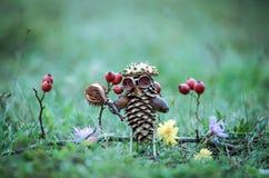 Χειροτεχνία κώνων πεύκων Στοκ Εικόνες