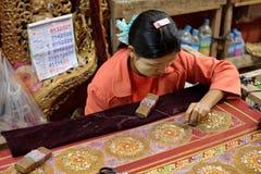 Χειροτεχνία στο Μιανμάρ στοκ εικόνες