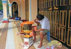 Χειροτεχνική αγγειοπλαστική ζωγραφικής, Ταϊλάνδη Στοκ Φωτογραφία