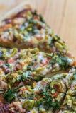 Χειροτεχνική πίτσα Στοκ Εικόνα