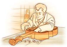 χειροτεχνικός πιό luthier Στοκ Φωτογραφίες