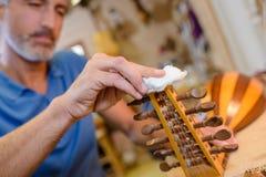 Χειροτεχνικό γυαλίζοντας μουσικό όργανο Στοκ φωτογραφίες με δικαίωμα ελεύθερης χρήσης