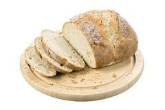 χειροτεχνικό λευκό ψωμιού Στοκ Εικόνες