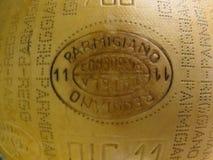 Χειροτεχνικό σημάδι τυριών Reggiano παρμεζάνας Στοκ Εικόνες