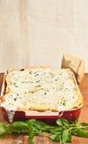 Χειροτεχνικό σπιτικό ψημένο lasagna Στοκ φωτογραφία με δικαίωμα ελεύθερης χρήσης