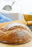 χειροτεχνικό ψημένο ψωμί φρέσκο Στοκ Εικόνα