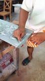 Χειροτεχνικό, Siem συγκεντρώνει, Καμπότζη Στοκ Εικόνα