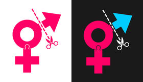 Χειρουργική επέμβαση νέας τοποθέτησης Transsexuality και φύλων Στοκ Εικόνα