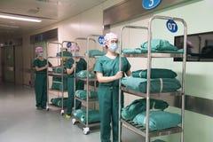 Χειρουργική προετοιμασία-προεγχειριτική προετοιμασία δεσμών στοκ φωτογραφία
