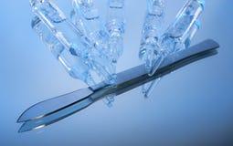 χειρουργικό νυστέρι φιαλλιδίων Στοκ Εικόνα