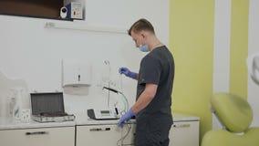 Χειρουργικό σύνολο για την εμφύτευση των δοντιών Κλινική Stomatologic απόθεμα βίντεο
