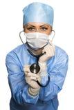 Χειρούργος με το στηθοσκόπιο Στοκ Εικόνα