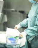 Χειρούργος στη χειρουργική επέμβαση νοσοκομείων Στοκ εικόνα με δικαίωμα ελεύθερης χρήσης