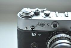 Χειρωνακτική κάμερα, εκλεκτής ποιότητας κάμερα, Lomo, κάμερα της ΕΣΣΔ, αναδρομική ταινία Στοκ Εικόνα
