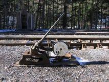 Χειρωνακτικός διακόπτης διαδρομής Canfranc Στοκ φωτογραφία με δικαίωμα ελεύθερης χρήσης